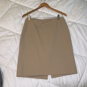 Khaki pencil skirt, like new